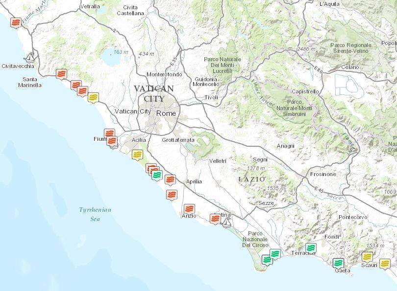 Cartina Mare Lazio.Mare Illegale Nel Lazio La Situazione Sul Litorale Pontino Gazzettino Del Golfo