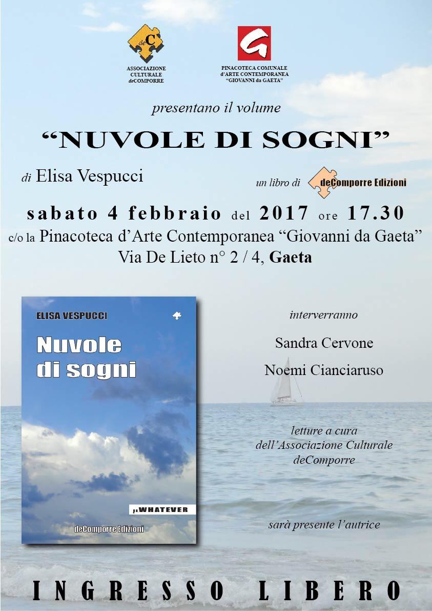 """Gaeta/""""Nuvole di Sogni"""" di Elisa Vespucci: L'Amore per la vita e l'arte"""