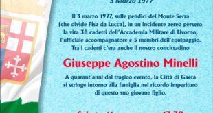 La tragedia del Monte Serra: commemorazione in ricordo del giovane Giuseppe Agostino Minelli