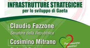 Infrastrutture strategiche per lo sviluppo di Gaeta, il convegno alla presenza del presidente del parlamento europeo Antonio Tajani