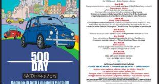 Domenica 14 maggio  a Gaeta …. è 500 Day: al via la terza edizione