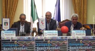 Presentato l'evento internazionale di Beach Handball al Comune di Gaeta (#video)
