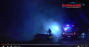 Gaeta, incendio a Monte Tortona (#video)