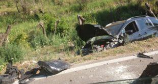 Gaeta, scontro in via S.Agostino. Due auto nel fossato