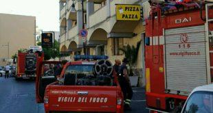 Formia, appartamento a fuoco