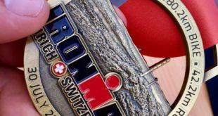 """Zurigo, l'atleta della Poligolfo Formia Erasmo Marciano diventa un """"Ironman"""""""