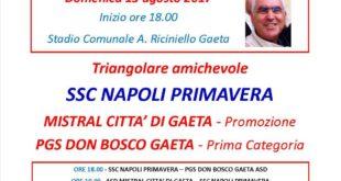 Calcio: Triangolare per Mistral e Don Bosco Gaeta con la Primavera del Napoli