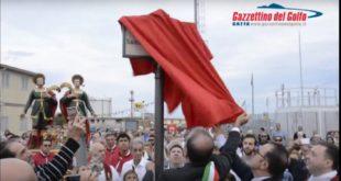 Gaeta, cerimonia ufficiale di intitolazione ai Santi Cosma e Damiano di Largo Peschiera (#Video)