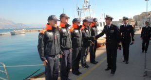 Gaeta, visita del comandante regionale della Guardia Costiera