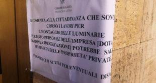 "Luminarie a Gaeta, Meetup 5 Stelle: ""Invasione senza ordinanza?"""