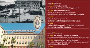 """Formia, festeggiamenti per il 90° del Liceo classico """"Vitruvio Pollione"""""""
