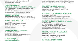 Luminarie Gaeta 2017: ecco il calendario degli eventi aggiornato
