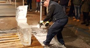 Gaeta, al via la spettacolare sfida tra scultori del ghiaccio (#Foto-#Video)