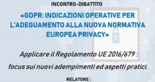 Nuove normative sulla Privacy, a Gaeta il convegno