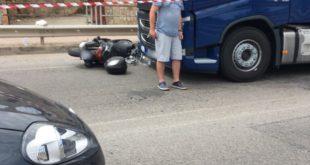 Pauroso incidente a Gaeta: coinvolto un scooter ed un mezzo pesante
