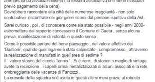 """Circolo Tennis di Gaeta, De Simone: """"L'aria fritta ha più consistenza"""""""