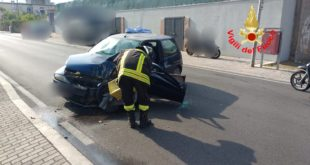 Formia, grave incidente in via degli Orti: due feriti
