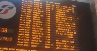 Maltempo Lazio, linea Roma – Napoli, via Formia: dalle 14.50 circolazione sospesa per guasto linea elettrica