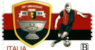 I 125 anni del Genoa in un francobollo