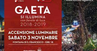 """Gaeta si illumina con """"Favole di Luce"""". L'accensione delle luminarie sabato 3 novembre"""