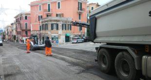 Gaeta, nuovo asfalto sulle strade cittadine