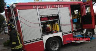 Fuga di gas sul Lungomare Caboto di Gaeta, intervengono i Vigili del Fuoco