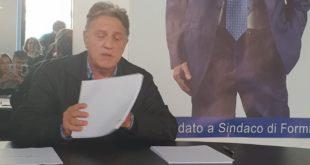Formia, conferenza stampa di Gianfranco Conte