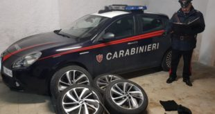 Gaeta, furti di ruote d'auto: arrestato pluripregiudicato