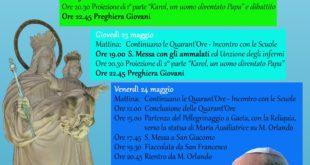 A Formia la reliquia di San Giovanni Paolo II