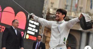 Scherma, Andrea Russo nuovo campione italiano agli assoluti. Domani premiazione in comune