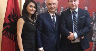 La regista originaria di Gaeta, Stefania Capobianco, ospite a Tirana dal Capo di Stato d'Albania, Ilir Meta