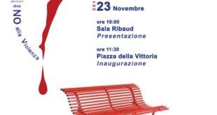 """Una """"Panchina Rossa"""" a Piazza Vittoria"""