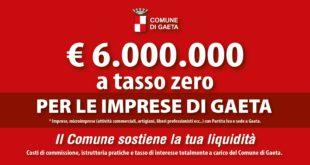 Gaeta, 6milioni di € per sostenere la liquidità delle imprese