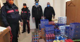 Gaeta,Carabinieri donano generi di prima necessità