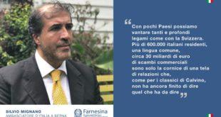 Dal sud pontino a Berna, Silvio Mignano nuovo ambasciatore d'Italia in Svizzera