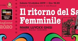 """""""Il ritorno del Sacro Femminile"""", confronti a Formia"""