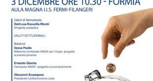 'economic@mente  metti in conto il tuo futuro', convegno organizzato da Anasf con il patrocinio di Confcommercio Lazio e Lazio Sud