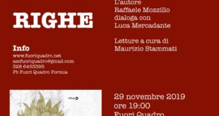 Fuori dalle righe: l'autore Raffaele Mozzillo dialoga con Luca Mercadante