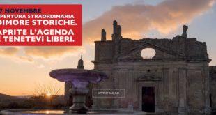 17 novembre apertura straordinaria dimore storiche