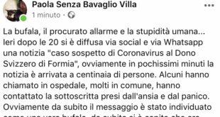 """Formia, nessun caso sospetto di Coronavirus. Il sindaco: """"Procurato allarme e stupidità"""""""