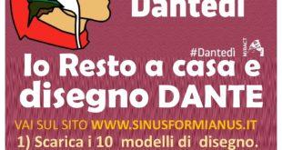 """Formia, concorso per bambini """"Io resto a casa e disegno Dante"""""""