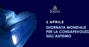 Formia, la Torre di Castellone si illumina di blu per la 'Giornata mondiale dell'autismo'